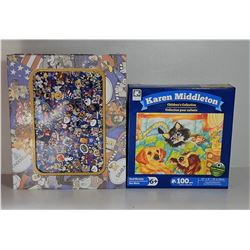 15)  LOT OF 2  FACTORY SEALED PUZZLES