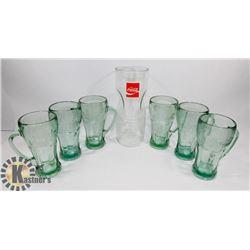 SET OF 6 LIBBEY HANDLED COKE GLASSES AND VINTAGE