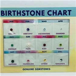 GENUINE GEMSTONE BIRTHSTONE CHART