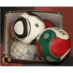 LOT OF ASSORTED BALLS INCLUDES FIFA WORLD CUP