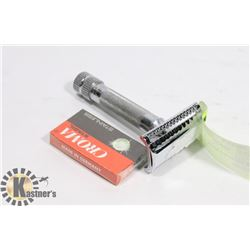 MERKER SAFETY RAZOR ANGLED WITH BLADES