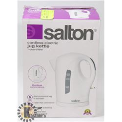 UNUSED SALTON ELECTRIC KETTLE