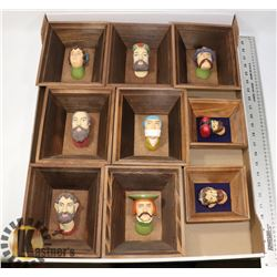 FLAT OF 9 WAWAL CASTLE HEADS FROM KRAKOW POLAND.