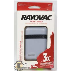 NEW RAYOVAC 6000 MAH POWER BANK