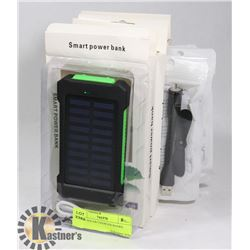 4 NEW SOLAR CHARGER BANKS