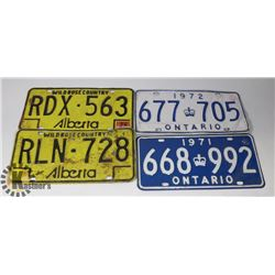 FLAT OF ASSORTED LICENSE PLATES