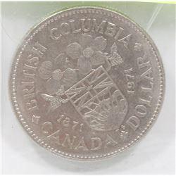 CANADIAN BC CENTENNIAL ONE DOLLAR COIN.