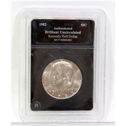 1982 US KENNEDY ENCASED ONE DOLLAR COIN.