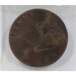 1900 BRITISH LARGE PENNY.
