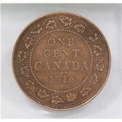 1916 CANADIAN LARGE PENNY.