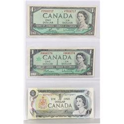LOT OF 3 CANADIAN DOLLAR BILLS.
