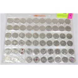 60 COMMEMORATIVE QUARTERS, PROVINCES, MONTHS, AND