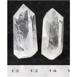 2 HEALING CRYSTALS WITH INCLUSIONS.