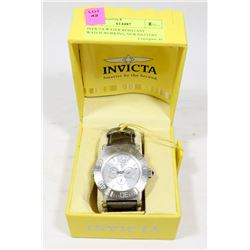 INVICTA WATER RESISTANT WATCH-WORKING, NEW BATTERY