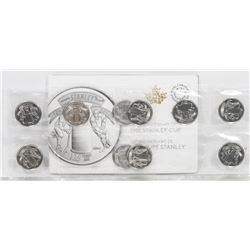 125 YEAR COMMEMORATIVE STANLEY CUP COIN SET.