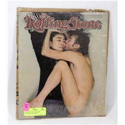 ROLLING STONE 1980 JOHN LENNON'S LAST PHOTO