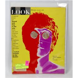 LOOK MAGAZINE 1968 BEATLE WITH FOLD OUT POSTER.