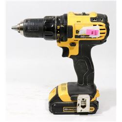 DEWALT 20V LITHIUM CORDLESS DRILL AND BATTERY