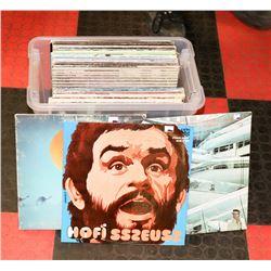 BOX OF ROCK/POP RECORDS