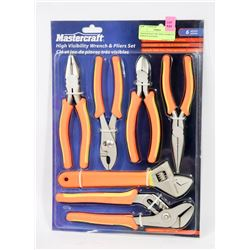 MASTERCRAFT 6PC HIGH VISIBILITY WRENCH & PLIERS