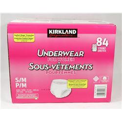 PACK OF 84 KIRKLAND UNDERWEAR FOR WOMEN.