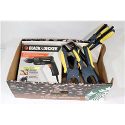 BLACK AND DECKER 3/8 REVERSIBLE DRILL 3AMP,