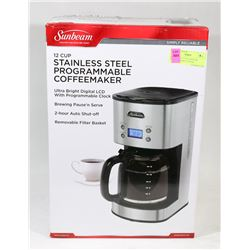 SUNBEAM 12 CUP STAINLESS PROGRAMMABLE COFFEE