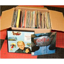 ASSORTED LARGE BOX OF VINYL RECORDS