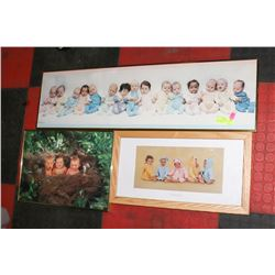 LOT OF 3 BABY PICTURES, 2 BY ANNE GEDDES