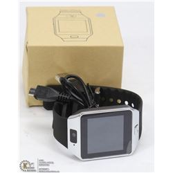 NEW S/S BLK BLUETOOTH SMARTWATCH WITH CAMERA