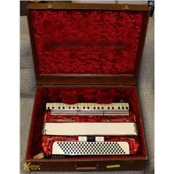 HOHNER TANGO III M ACCORDIAN WITH CASE.