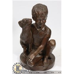 BOY WITH DOG 1974 BY CHARLES PARKS FRANKLIN MINT