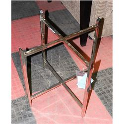 BOUTIQUE METAL END TABLE NO GLASS. FURNITURE