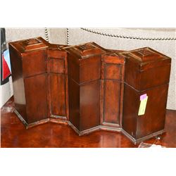 BOUTIQUE WOOD 3 PC CANISTER ENCASEMENT WITH