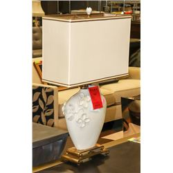 BOUTIQUE DESIGNER FLORAL 2 TONE LAMP
