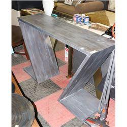 """BOUTIQUE DESIGNER SOFA TABLE, 55""""X16""""X34.5""""."""