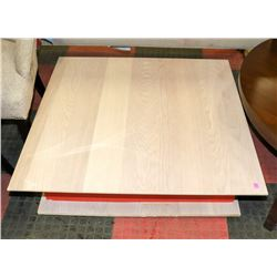 BOUTIQUE DAMAGED 2 TONE COFFEE TABLE, 36 X36 X13 .
