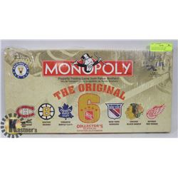 NEW MONOPOLY NHL THE ORIGINAL 6 COLLECTORS