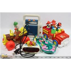 FLAT OF OF VINTAGE TOYS, DISNEY, FISHER PRICE AND
