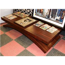 BOUTIQUE TIGER WOOD STYLE LARGE COFFEE TABLE