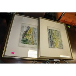 BOUTIQUE PAIR OF FRAMED PICTURES