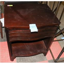 BOUTIQUE WOOD TONE 1 DRAWER NIGHT STAND