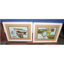 BOUTIQUE PAIR OF BOAT FRAMED PICTURES