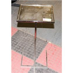 BOUTIQUE METAL AND MIRRORED GLASS SMOKERS STAND