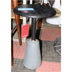 BOUTIQUE STONE AND WOOD DESIGNER END TABLE