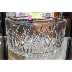 BOAT SHAPED CRYSTAL CENTER PIECE.