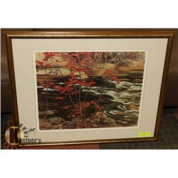 A.Y.  JACKSON GROUP OF 7 PRINT FRAMED AND MATTED