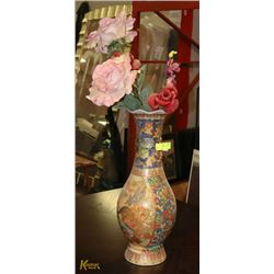 """ASIAN STYLE COLORFUL 48"""" TALL VASE"""