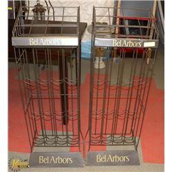 "2 BEL ARBORS METAL WINE STANDS 44"" TALL 15"" WIDE"