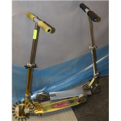 2 SCOOTERS-GOLD AND SILVER